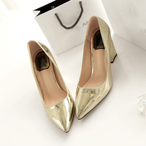 Fashion Pointed Closed Toe Shallow Mouth Design Ch