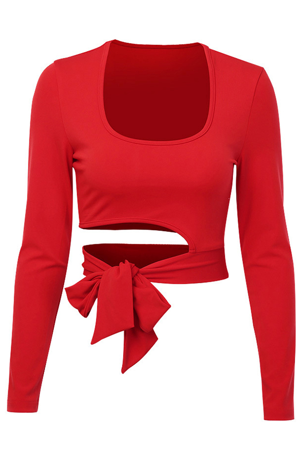 Lovely Chic Knot Design Red Base Layer