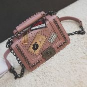 Lovely Stylish Chain Strap Pink Crossbody Bags