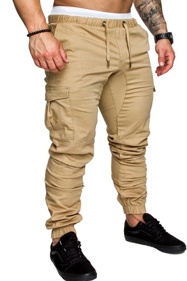 Lovely Casual Drawstring Khaki Pants